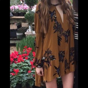 Free people Tree Swing Tunic Floral Print Size L